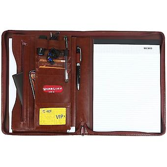 Leathario A4 File Folder Padfolio Writing Pad Business Presentation Folder