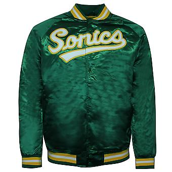 Mitchell & Ness Seattle Sonics Lightweight Satin Bomber Jacket SSUGREN1