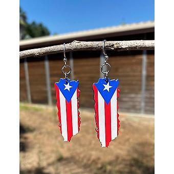 Puerto Rican Flag Earrings