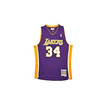 Mitchell & Ness Nba Los Angeles Lakers Shaquille O'neal Purple 1999-2000 Swingman Jersey
