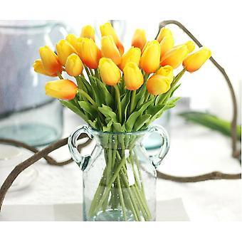 Tulip kunstig blomst 10 stk kunstig buket falsk blomst til bryllup dekoration Blomster Home Garen Decor