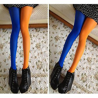 Patchwork Footed Harisnya Stretchy Harisnya harisnya rugalmas selyem vékony lábak
