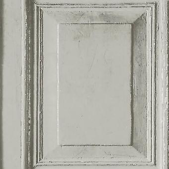 Wood Panels Wallpaper Grey