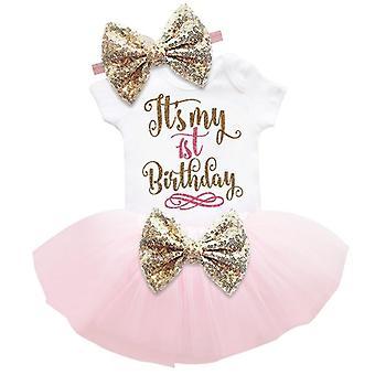 Pieni vauva ensimmäinen syntymäpäivä juhlamekko söpö tutu asut vauvan mekot kaste