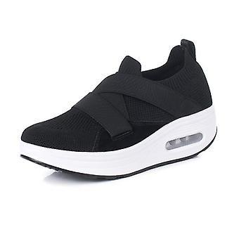 靴の上のトーニングスリップ女性は重量の空気スニーカー女性ミニカボディシェーピングを失う