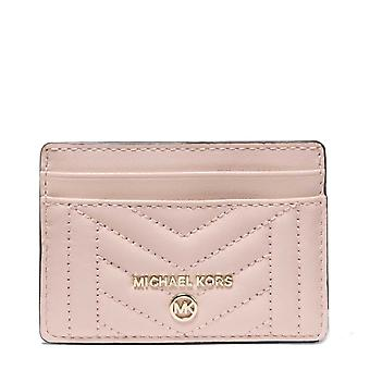 MICHAEL Michael Kors Quilted Leather Card Holder Soft Pink