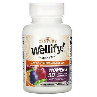 21st Century, Wellify! Women's 50+ Multivitamin Multimineral, 65 Tablets