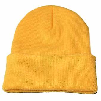 الشتاء محبوك Skullcap الكبار عارضة الهيب هوب قبعة النساء الرجال الاكريليك Beanie