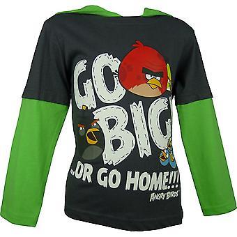 Pojat Angry Birds Hupullinen pitkähihainen toppi