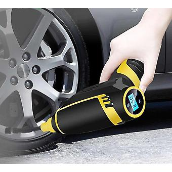 Air Pump, Handheld Usb Rechargeable Tire Inflator Digital Inflatable Wireless