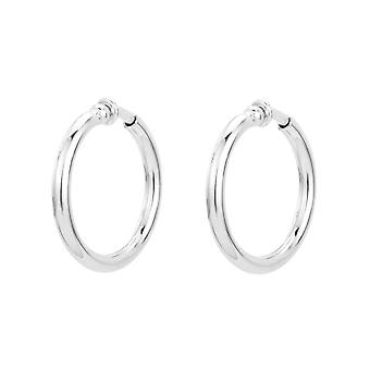 Traveller Clip Hoop Earrings Rhodium plated Ø 33mm - 155051