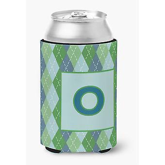 Buchstabe O anfängliche Monogramm - blau Argoyle-Dose oder Flasche Getränk Isolator Hugger