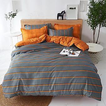 High Quality Black Star Bed Linen Bedding Set, Duvet Cover Flat Bed Sheet