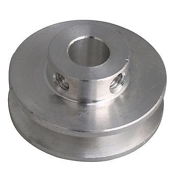 31x15x8MM Silver Alloy Groove 5MM Bore Step Pulley for PU Round Belts