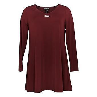 Antthony Women & s Top All for You V Neck Tunic مع جيوب حمراء 727-341