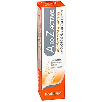 Health Aid A to Z Active Effervescent 20 Tablets