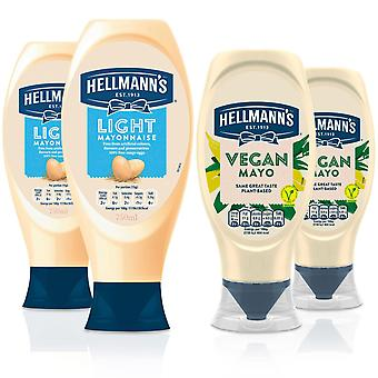 Hellmann's Vegan Mayonnaise 430ml & Light Mayonnaise 750ml, 2 de Chaque