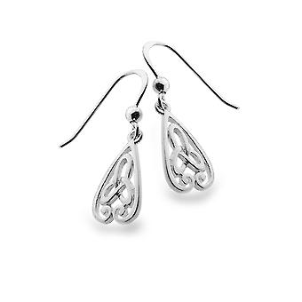 Boucles d'oreilles Sterling Silver - Celtic Trinity Knot + Spirals Trinity