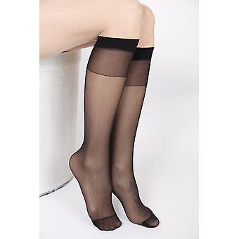 Fem Black Knee-highs 2-pack