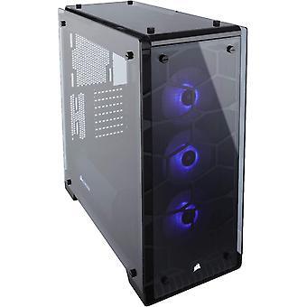 Wokex Crystal 570X RGB PC-Gehuse (Kompakt Mid-Tower ATX, mit gehrtetem Glas und RGB-Lftern), RGB