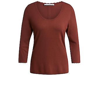 Oui Terracotta Fine Knit Jumper