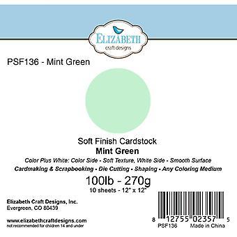 Elizabeth Craft Designs - Soft Finish Cardstock Mint Green
