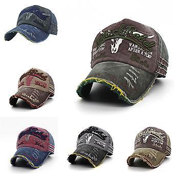 Retro Canvas Denim Letters Patchwork Vintage Baseball Cap Men Women Snapback Hat Summer Autumn Hip Hop Hats Winter Hat Cap