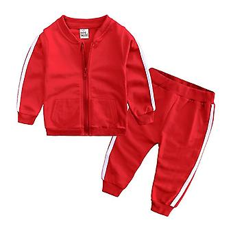 Spring Autumn Fashion, Baby Clothes, Sport Cotton, Long Sleeve Zipper Jacket+
