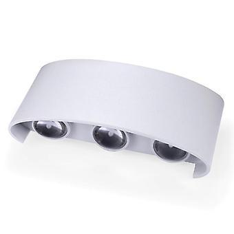 Led Wall Lamp waterproof 2W 4W 6W 8W Wall(White)