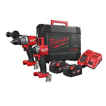 Milwaukee M18FPP2A2-502X M18 FUEL Twin Kit With 2 x 5.0Ah Batteries