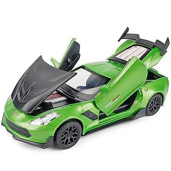 1:32 Corvette Supercar Modello Lega Auto (Verde)