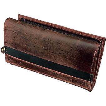 Alassio - Kvinners lommebok, i ekte skinn, 14,5 x 9 cm, farge: Brun