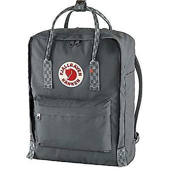Fjallraven K nken, Unisex-Adult Sports Backpack, Super Grey-Chess Pattern, One Size