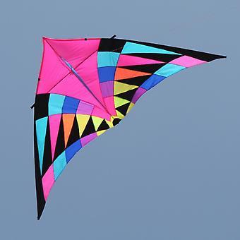 Large Delta Rainbow Kites, Flying, Ripstop Nylon With Handle Line Kite