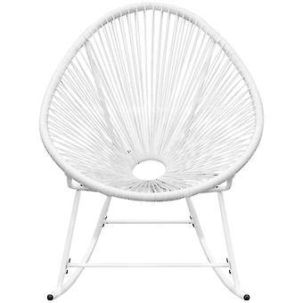 vidaXL Garden Rocking Chair White Poly Rattan