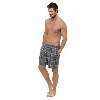 Foxbury Mens Checked Pyjama Shorts (Pack Of 2)