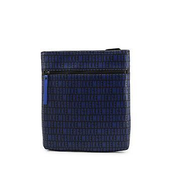 Bikkembergs - Bags - Shoulder Bags - E2APME810022F95-Black-RoyalBlue - Men - black,royalblue