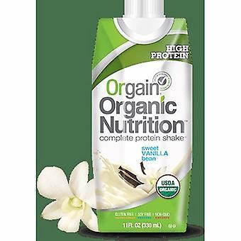 Orgain Oral Supplement Orgain Organic Nutritional Shake Sweet Vanilla Bean Flavor 11 oz. Container Carton , Case of 12