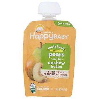 Happy Baby Food Baby Pear Cashew Btr, Case of 16 X 3 Oz