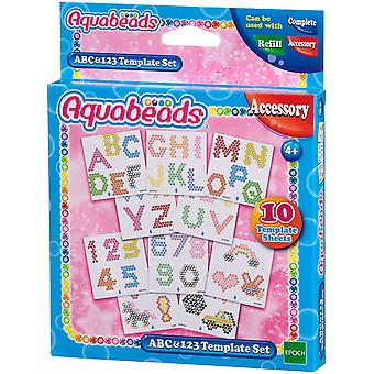 Aquabeads 30518 ABC and 123 Template Craft Kit School