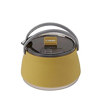 Collapsible Silicone Kettle Outdoor Camping Travel Electric Water Pot Tea Coffee Kettle 1l