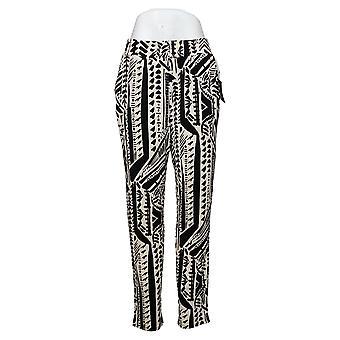 IMAN Global Chic Women's Pants Printed Ankle Black 742656
