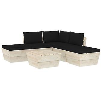 vidaXL 6 pcs. Garden sofa set made of pallets with cushions spruce wood