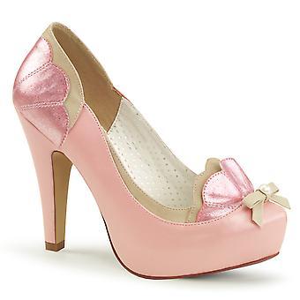 Pin Mujeres's Zapatos Arriba B. Cuero Sintético Rosa-Tan