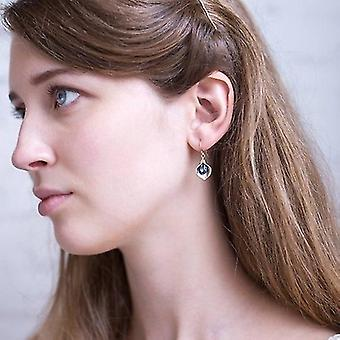 Exquisite 925 Sterling Silver Natural Sapphire Earrings