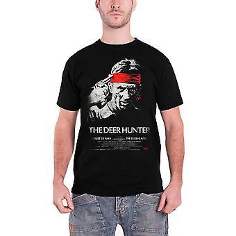 The Deer Hunter Mens T Shirt Svart Studiocanal Vintage Film Affisch Officiella