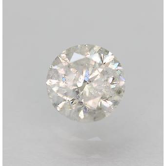 Zertifiziert 0,45 Karat D Farbe SI3 Rund Brillant Natürlich LosEr Diamant 4,8 mm 3VG