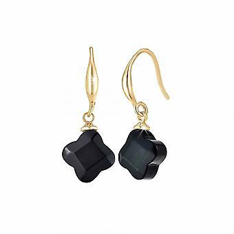 Boucles d'oreilles Ang�le M - B2482-NOIR M�tal Dor�