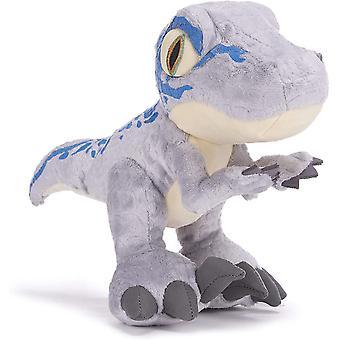 Jurassic World Camp Cretaceous Chunky Blue Velociraptor Dinosaur 10 Inch Soft Toy