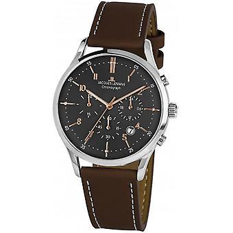 Jacques Lemans Brown Genuine Leather 1-2068O Reloj de Hombre